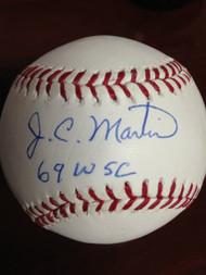 SOLD 831 J.C. Martin Autographed ROMLB Baseball 69 W.S.C.