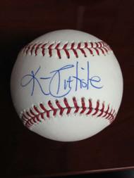 Kim Batiste Autographed ROMLB Baseball