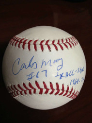 Carlos May Autographed ROMLB Baseball 2 X All-Star