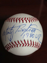 SOLD 848 Marty Bystrom Autographed ROMLB Baseball 1980 World Series Champs
