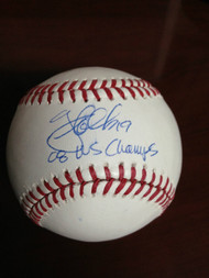SOLD 850 Greg Dobbs Autographed ROMLB Baseball 08 WS Champs