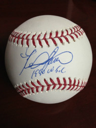 SOLD 852 Kevin Saucier Autographed ROMLB Baseball 1980 W.S.C.