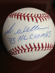 SOLD 881 Mike Williams Autographed ROMLB Baseball 93 NL Champs
