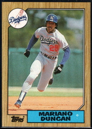 1987 Topps #199 Mariano Duncan NM-MT Los Angeles Dodgers