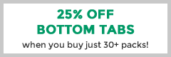 25% Off Bottom Tabs