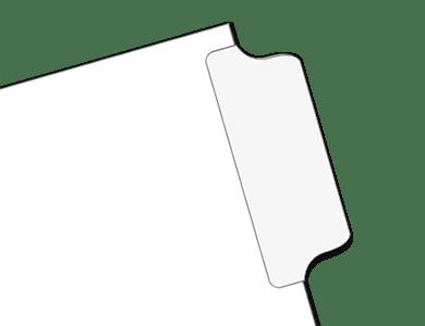 Mylar Blank Tab Dividers