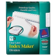 Avery Index Maker Clear Label Divider - 1