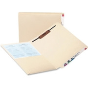 Smead 34100 Manila End Tab Pocket Folder with Fastener