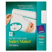 Avery Big Tab Index Maker Clear Label Divider - 1