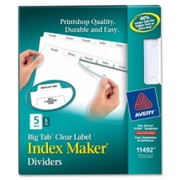 Avery Big Tab Index Maker Clear Label Dividers