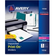Avery Customizable Unpunched Print-On Dividers