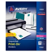 Avery Customizable Unpunched Print-On Dividers - 1