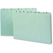 Smead 52376 Green Pressboard Guides with Alphabetic Indexed Sets