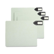 Smead 61757 Gray/Green 100% Recycled Extra Wide End Tab Pressboard Guides with Horizontal Metal Tab