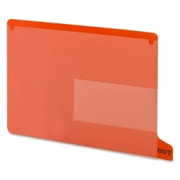 Smead 61950 Red End Tab Poly Out Guides - Two-Pocket Style