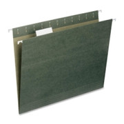 Smead Standard Green 100% Recycled Hanging File Folders with Tab