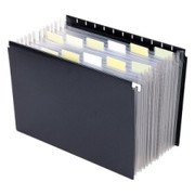Smead 65125 Black Poly Hanging Expanding File