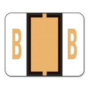 Smead 67072 Light Orange BCCR Bar-Style Color-Coded Alphabetic Label - B