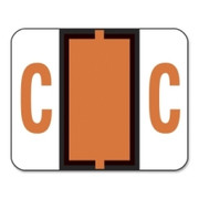 Smead 67073 Dark Orange BCCR Bar-Style Color-Coded Alphabetic Label - C