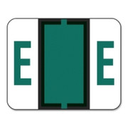Smead 67075 Dark Green BCCR Bar-Style Color-Coded Alphabetic Label - E