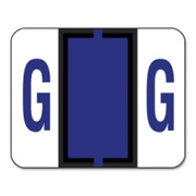 Smead 67077 Violet BCCR Bar-Style Color-Coded Alphabetic Label - G