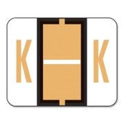 Smead 67081 Light Orange BCCR Bar-Style Color-Coded Alphabetic Label - K