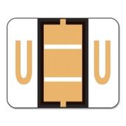 Smead 67091 Light Orange BCCR Bar-Style Color-Coded Alphabetic Label - U