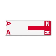 Smead 67152 Red AlphaZ NCC Color-Coded Name Label - A & N