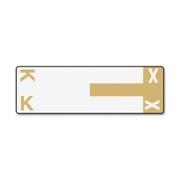 Smead 67162 Light Brown AlphaZ NCC Color-Coded Name Label - K & X