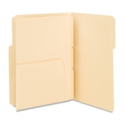 Smead 68030 Manila Self-Adhesive Folder Divider with Pockets