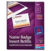 Avery Name Badge Insert Refill