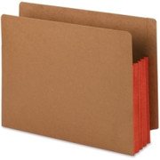 Smead 73686 Red Extra Wide End Tab File Pockets with Reinforced Tab and Colored Gusset