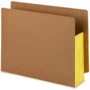 Smead 73688 Yellow Extra Wide End Tab File Pockets with Reinforced Tab and Colored Gusset