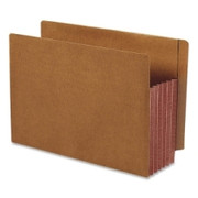 Smead 73691 Dark Brown Extra Wide End Tab File Pockets with Reinforced Tab and Colored Gusset