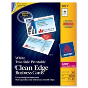 Avery Clean Edge Business Card - 1
