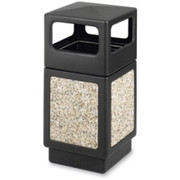 Safco Ash Urn Side Open Receptacle - 1