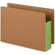 Smead 74680 Green Extra Wide End Tab File Pockets with Reinforced Tab and Colored Gusset