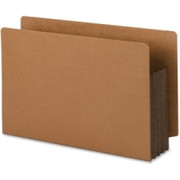 Smead 74681 Dark Brown Extra Wide End Tab File Pockets with Reinforced Tab and Colored Gusset