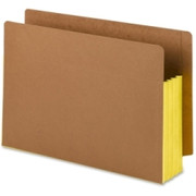 Smead 74688 Yellow Extra Wide End Tab File Pockets with Reinforced Tab and Colored Gusset