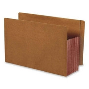 Smead 74691 Dark Brown Extra Wide End Tab File Pockets with Reinforced Tab and Colored Gusset