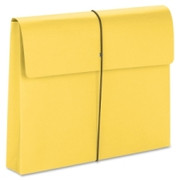 Smead 77206 Yellow Expanding Wallets with Elastic Cord