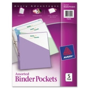 Avery Durable 3-Ring Poly Binder Pocket - 1
