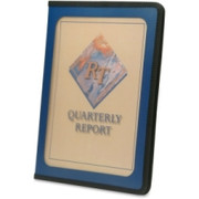 Smead 85848 Blue Poly View Front Pad Folios