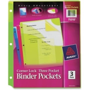 Avery Corner Lock Three Pocket Binder Pockets