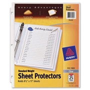 Avery Standard Weight Sheet Protector