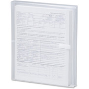 Smead 89661 Clear Poly Envelopes with Hook-and-Loop Closure