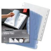 Wilson Jones View-Tab Transparent Divider - 5