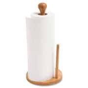 Baumgartens Bamboo Paper Towel Holder
