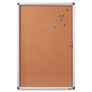 Lorell Enclosed Cork Bulletin Board - 1
