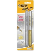 BIC Mark-it Fine Point Permanent Metallic Markers